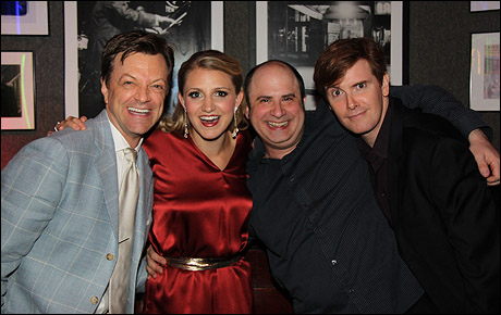 Jim Caruso, Annaleigh Ashford, James Sampliner and Laurence O'Keefe