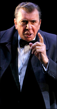 Outstanding Actor in a Play winner Frank Langella as Richard Nixon in <I>Frost/Nixon</I>.