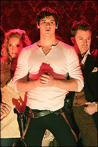 Benjamin Walker (center) and <i>Bloody Bloody Andrew Jackson</i> cast members