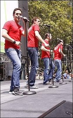 Russell Fischer, Ryan Jesse, Erik Bates and Miles Aubrey