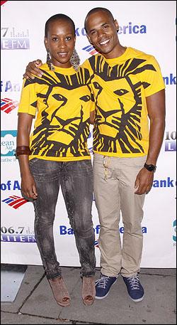Selloane Nkhela and Joel Karie