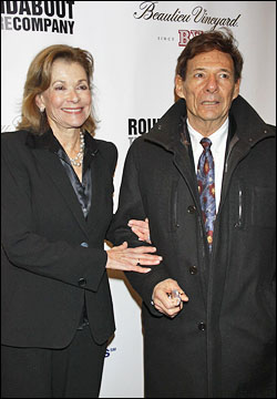 Jessica Walter with friendly, fun, Husband Ron Leibman