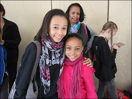 """Current """"Ballet Girl"""" Kendra Tate tagged along with her sister, Kendall, for support."""