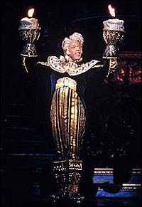 Mescha Taylor in a scene from <i>Beauty and the Beast</i>.