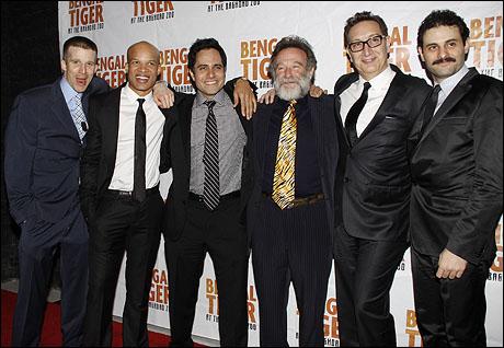 Brad Fleischer, Glenn Davis, Rajiv Joseph, Robin Williams, Moises Kaufman and Arian Moayed
