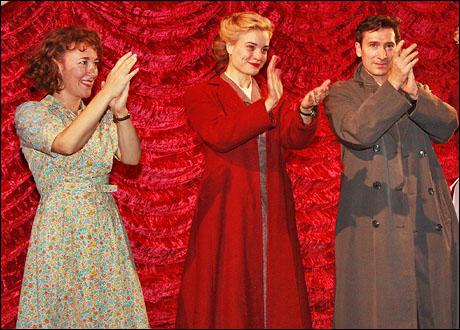 Dorothy Atkinson, Hannah Yelland and Tristan Sturrock