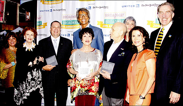Charlotte St. Martin, Arlene Dahl, Matthew D. Loeb, Tommy Tune, Chita Rivera, Charles Strouse, Nina Lannan and Nick Wyman
