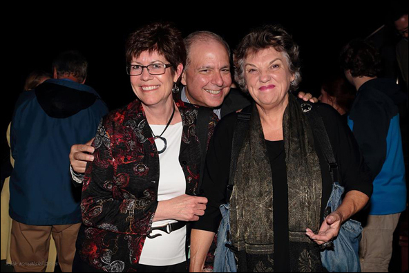 Peggy McCrae, Jed Bernstein and Tyne Daly