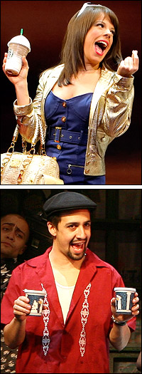 Leslie Kritzer and Lin-Manuel Miranda are the 2007 Clarence Derwent Award winners.
