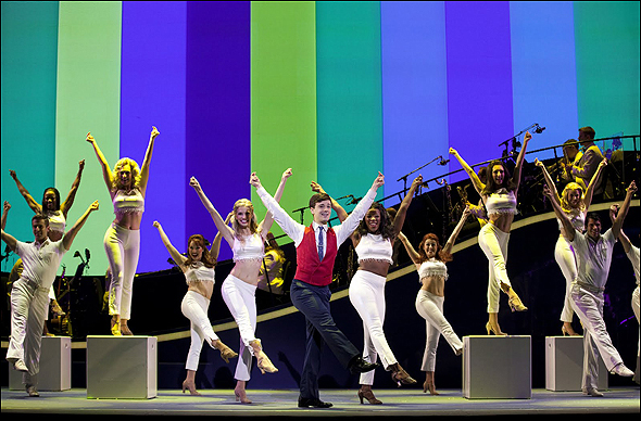 Stephen Anthony and the cast of Catch Me if You Can