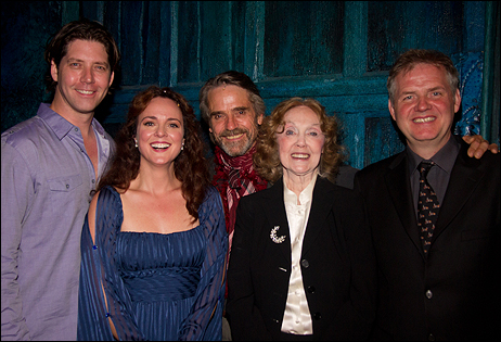 James Barbour, Melissa Errico, Jeremy Irons, Charlotte Moore and Ciaran O'Reilly