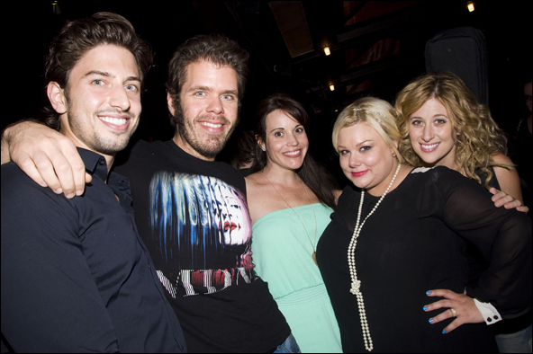 Nick Adams, Perez Hilton, Jenna Leigh Green, Carly Jibson and Caissie Levy