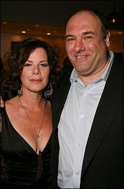 Marcia Gay Harden and James Gandolfini