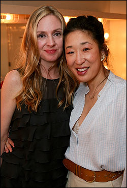 Hope Davis and Sandra Oh