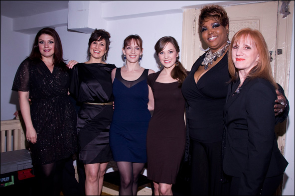 Jane Monheit, Stephanie J. Block, Julia Murney, Laura Osnes, Liz Mikel and Terri Klausner