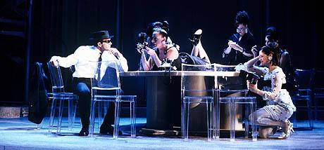 "Antonio Banderas and ensemble members perform ""Not Since Chaplin"""
