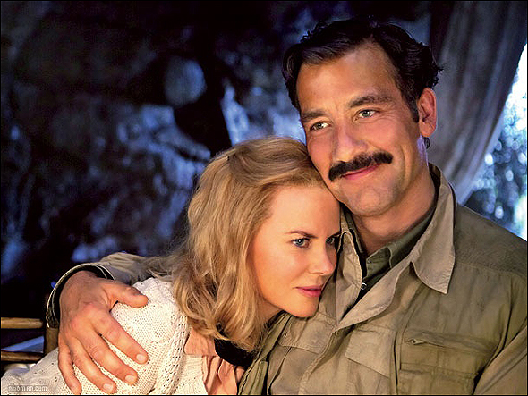 "Clive Owen, Outstanding Lead Actor in a Mini Series or Movie Nominee as ""Ernest Hemingway"" in Hemingway & Gelhorn, shown here with fellow nominee Nicole Kidman."