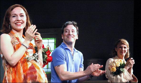 Sarah Goldberg, Jeremy Shamos and Christina Kirk