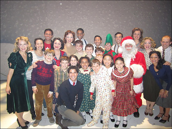 Darren Criss and the cast of A Christmas Story