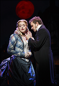 Betsy Wolfe and Will Chase in <i>The Mystery of Edwin Drood.</i>
