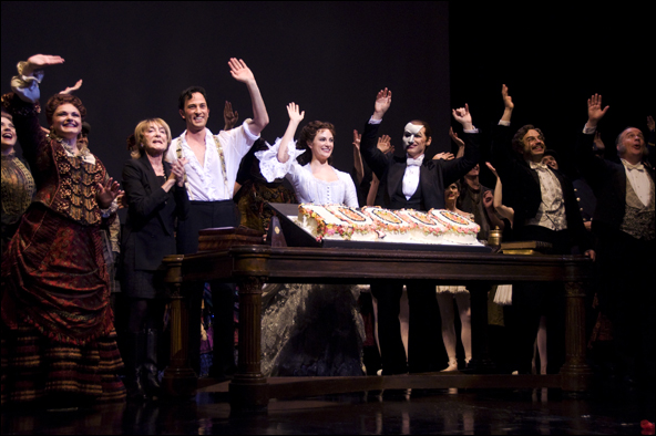 Gillian Lynne and cast