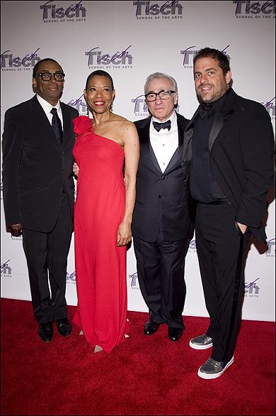 Spike Lee, Mary Schmidt Campbell, Martin Scorsese and Brett Ratner
