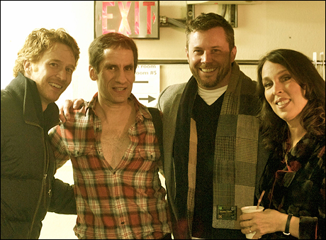 Our friends Paul Castree and Richard Roland come out to see the show.  Seth, button your shirt.