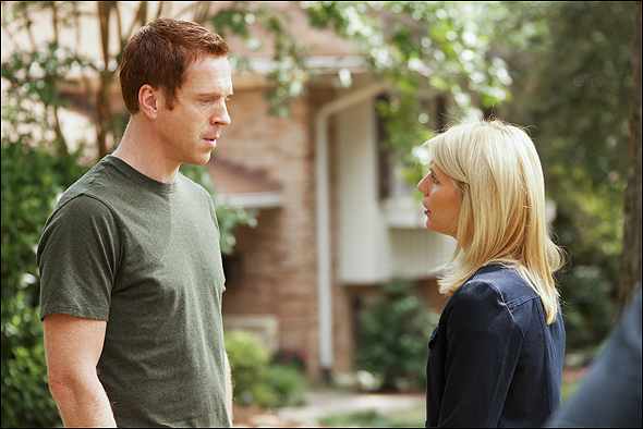 "Damian Lewis, Outstanding Lead Actor in a Drama Series Nominee as ""Nicholas Brody"" in Homeland, shown here with fellow nominee Claire Danes."