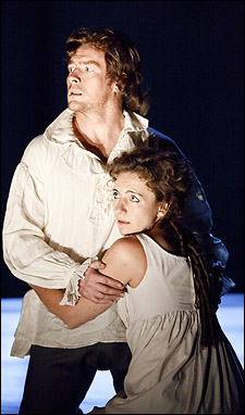 Toby Stephens and Kirsty Bushell