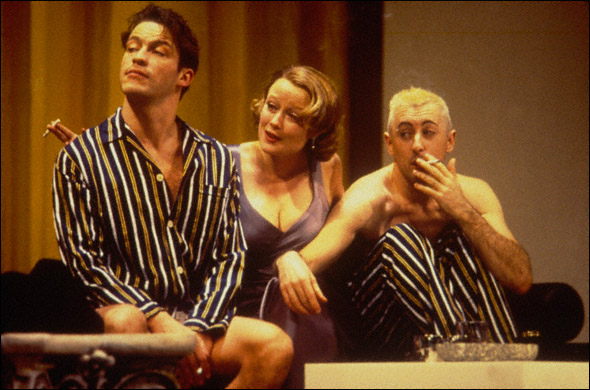 Alan Cumming, Jennifer Ehle, and Dominic West in Design For Living