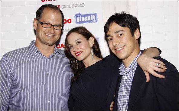 Eric Perlmutter, Kara DioGuardi and Eddie Bergman