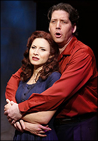 Jenny Powers and James Barbour in <i>Donnybrook!</i>