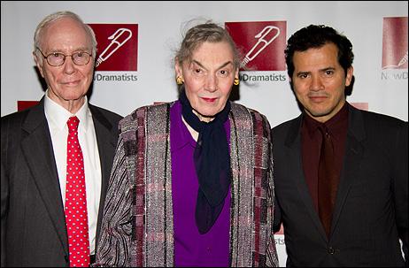 Roger Berlind, Marian Seldes and John Leguizamo