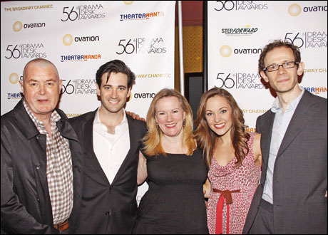Martin Pakledinaz, Colin Donnell, Kathleen Marshall, Laura Osnes and Adam Godley