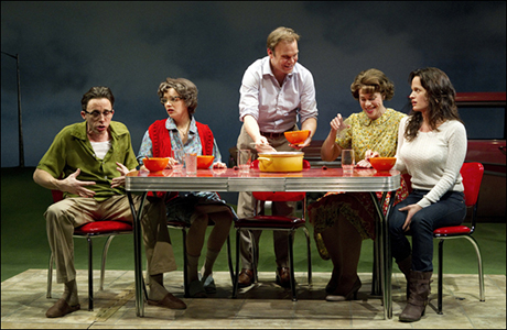 Kevin Cahoon, Marnie Schulenburg, Norbert Leo Butz, Jennifer Regan and Elizabeth Reaser in How I Learned to Drive Off-Broadway