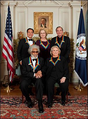 Clockwise: Yo-Yo Ma, Meryl Streep, Neil Diamond, Barbara Cook and Sonny Rollins
