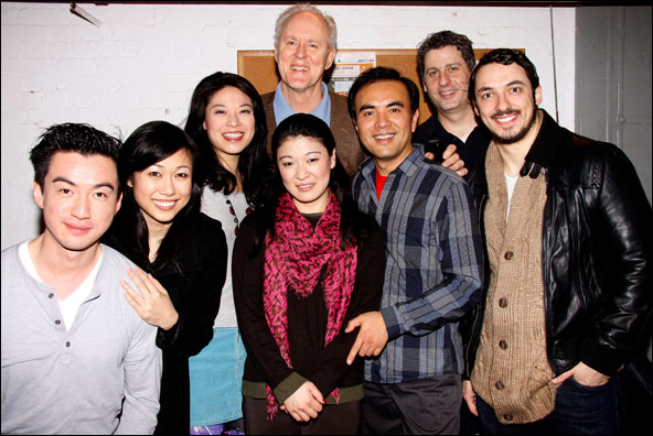 Johnny Wu, Angela Lin, Christine Lin, John Lithgow, Jennifer Lim, Larry Lei Zhang, Gary Wilmes and Stephen Pucci