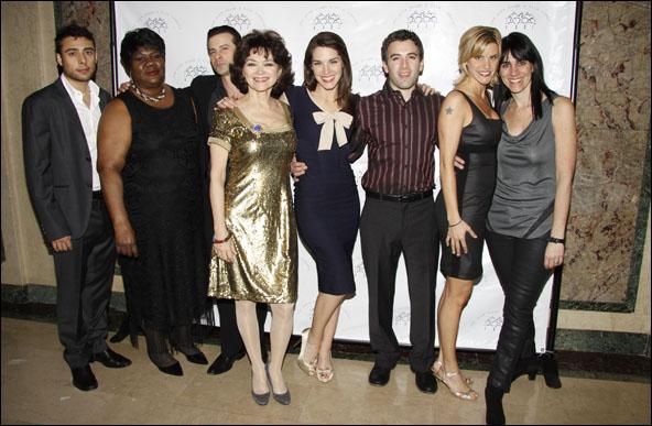 Manuel Herrera, Dominic Nolfi, Linda Hart, Kelli Barrett, Jarrod Spector, Jenn Collela and Leigh Silverman