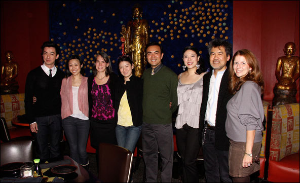 Johnny Wu, Angela Lin, Elizabeth Timperman, Christine Lin, Larry Lei Zhang, Jennifer Lim, David Henry Hwang and Kirsten Berkman