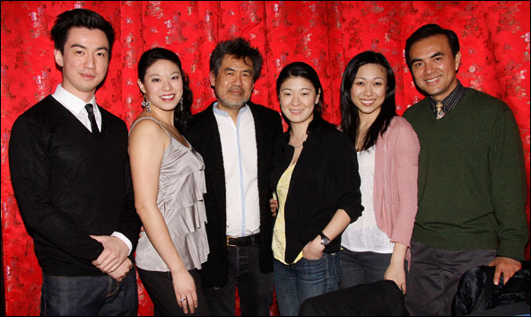 Johnny Wu, Christine Lin, David Henry Hwang, Jennifer Lim, Angela Lin and Larry Lei Zhang