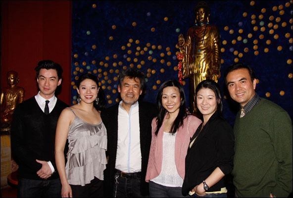 Johnny Wu, Christine Lin, David Henry Hwang, Angela Lin, Jennifer Lim and Larry Lei Zhang