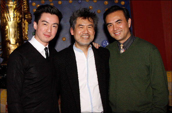 Johnny Wu, David Henry Hwang and Larry Lei Zhang