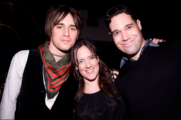 Reeve Carney, Karen Walsh and Matthew Greer