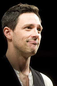 Steve Kazee on opening night of <i>Once</i>.