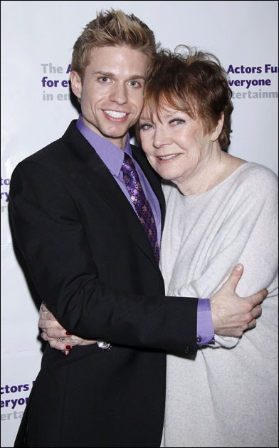 Hunter Ryan Herdlicka and Polly Bergen