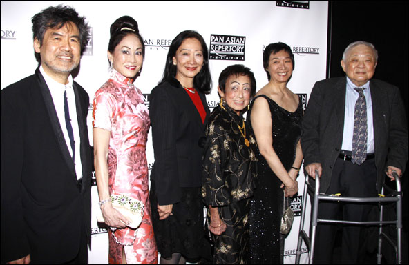 David Henry Hwang, Lucia Hwong Gordon, Tina Chen, Dr. Patricia E. Taylor, Tisa Chang and Ming Cho Lee