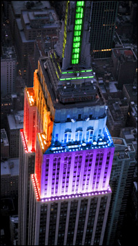 The Empire State Building was illuminated with rainbow-colored lights the weekend of June 24.