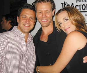 Raul Esparza (l), Adam Pascal and Julia Murney.