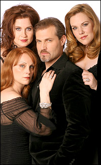 (l.-r.) Jacquelyn Piro Donovan, Christiane Noll, Marc Kudisch and Emily Skinner star in <i>The Witches of Eastwick</i>.