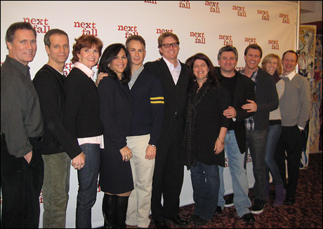 Cotter Smith, Patrick Breen, Connie Ray, producer Barbara Manocherian, playwright Geoffrey Nauffts, producer Richard Willis, director Sheryl Kaller, producer Anthony Barrile, Patrick Heusinger, Maddie Corman and Sean Dugan.
